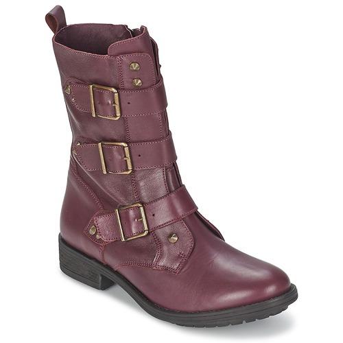 Ikks RANGER-COLLECTOR-BOUCLE Burdeo - Envío gratis Botas Nueva promoción - Zapatos Botas gratis de caña baja Mujer 220,00 4aae60