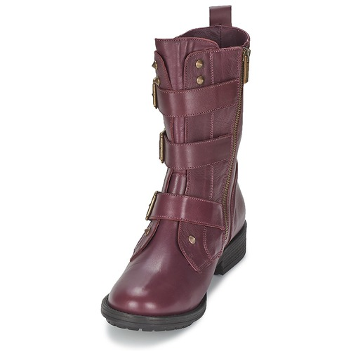 Burdeo collector boucle Zapatos Baja Botas Caña Ikks De Mujer Ranger wy0mOvNn8