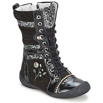 Zapatos Niña Botas de caña baja Catimini CYLENE Vns / Negro-purpurina / Dpf / 2530