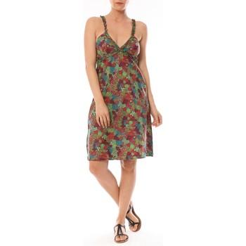 textil Mujer Vestidos cortos By La Vitrine Robe Bretelle Cocody imprimée Fleurs Multicolor