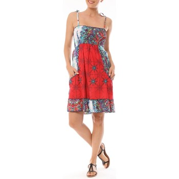textil Mujer Vestidos cortos By La Vitrine Robe bretelle Pamplona imprimée psychédélique Multicolor