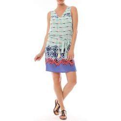 textil Mujer Vestidos cortos By La Vitrine Ema Blues Robe Bambou Bleu Azul