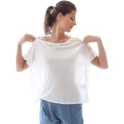 textil Mujer Tops / Blusas Denny Rose 63DR15014 T-shirt Mujeres Bianco
