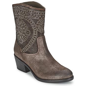 Zapatos Mujer Botas de caña baja Now PIOMBO Gris