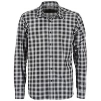 textil Hombre camisas manga larga Yurban FLENOTE Negro / Blanco