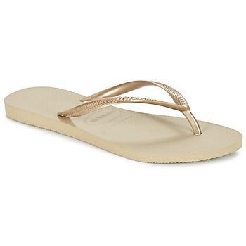 Zapatos Mujer Chanclas Havaianas SLIM Dorado