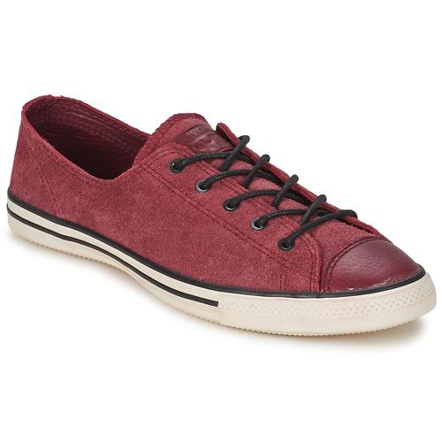 Zapatos Mujer Zapatillas bajas Converse Chuck Taylor All Star FANCY LEATHER OX Burdeo
