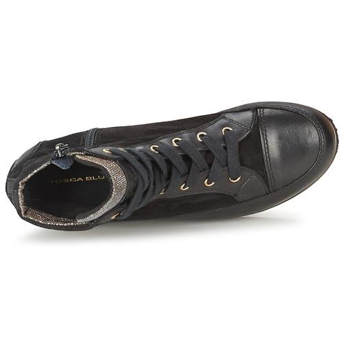 Zapatos Negro Altas Bangkok Blu Mujer Zapatillas Tosca wPiuTkZOX