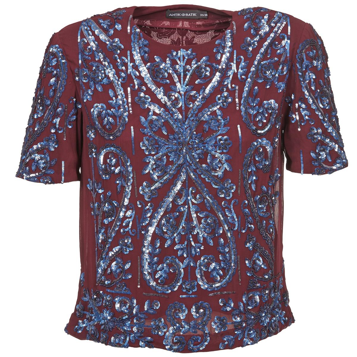 blusas Antik Batik NIAOULI Burdeo