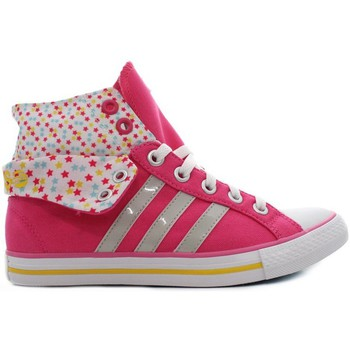 Zapatos Niña Zapatillas altas adidas Originals Bbneo 3 Stripes Rosa