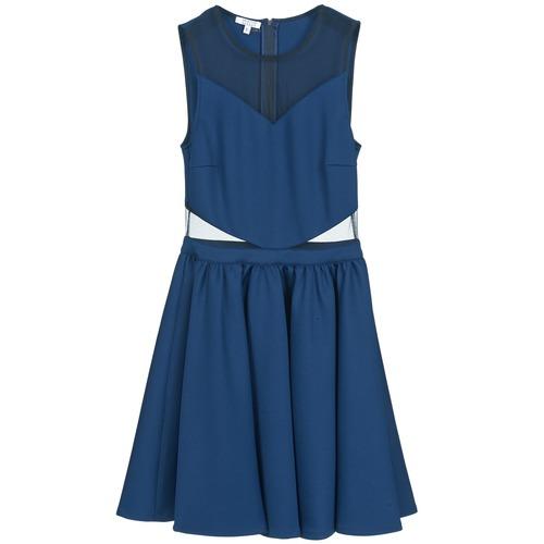 Bb45080 Azul Vestidos Textil Cortos Bardot Brigitte Mujer lcJTFK1