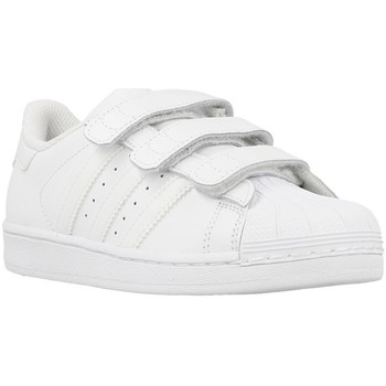 Zapatos Niño Zapatillas bajas adidas Originals Superstar Foundation Blanco