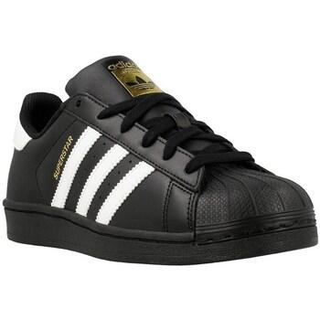 Zapatos Niño Zapatillas bajas adidas Originals Superstar Foundation J Blanco-Negro
