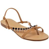 Zapatos Mujer Sandalias F. Milano  Beige