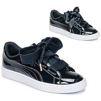Zapatos Mujer Zapatillas bajas Puma BASKET HEART PATENT WN'S Negro / Barniz