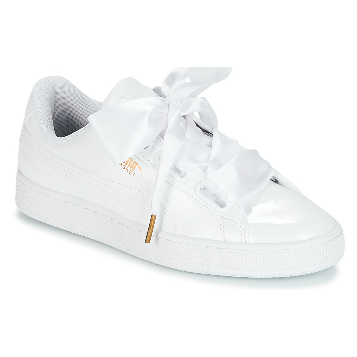 Zapatos Mujer Zapatillas bajas Puma BASKET HEART PATENT WN'S Blanco