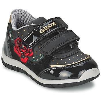 Zapatos Niña Zapatillas bajas Geox SHAAX A Negro