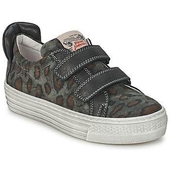 Zapatos Niños Zapatillas bajas Diesel JERMAN Gris / Leopardo