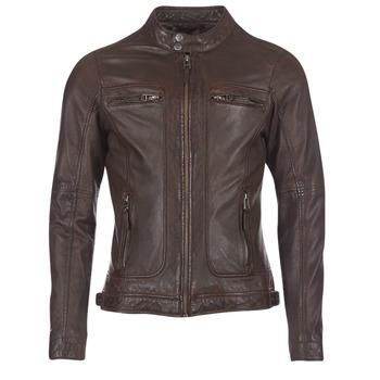 textil Hombre Chaquetas de cuero / Polipiel Oakwood 60901 Marrón