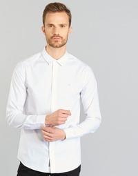 textil Hombre camisas manga larga Calvin Klein Jeans WILBERT Blanco