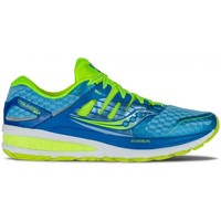 Zapatos Mujer Running / trail Saucony Triumph Iso 2 Azul-Amarillo