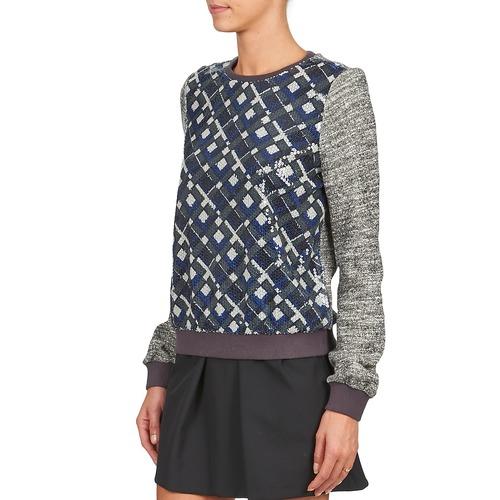 Manoush Azul Sudaderas Textil Mosaique Mujer GrisNegro N08mwn