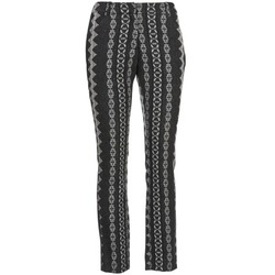 textil Mujer pantalones con 5 bolsillos Manoush TAILLEUR Gris / Negro