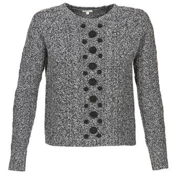textil Mujer jerséis Manoush TORSADE Gris / Negro