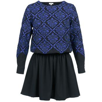 textil Mujer vestidos cortos Manoush GIRANDOLINE Negro / Azul