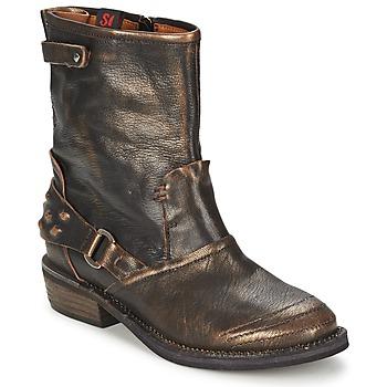 Zapatos Mujer Botas de caña baja Sans Interdit HASHLEY Canela
