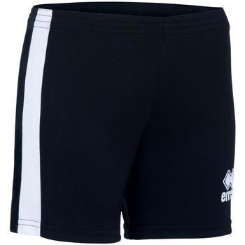 textil Niña Shorts / Bermudas Errea Short femme enfant  Amazon noir/blanc