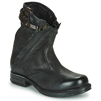 Zapatos Mujer Botas de caña baja Airstep / A.S.98 SAINT METAL ZIP Negro