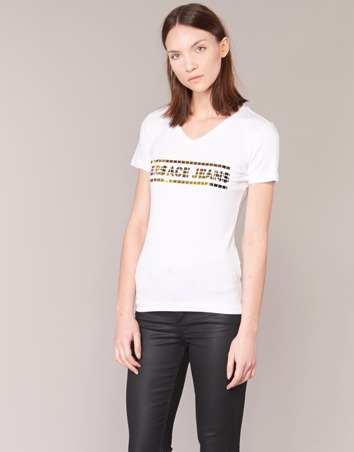 textil Mujer camisetas manga corta Versace Jeans B2HPA7GC Blanco