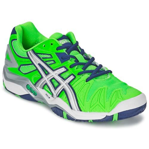 Zapatos Hombre Tenis Asics GEL-RESOLUTION 5 Verde / Azul