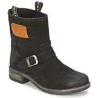Zapatos Niña Botas de caña baja Le Temps des Cerises JUNIOR ALOE Negro