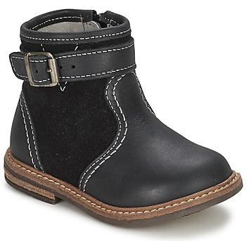 Zapatos Niño Botas de caña baja Citrouille et Compagnie LOOPI Negro