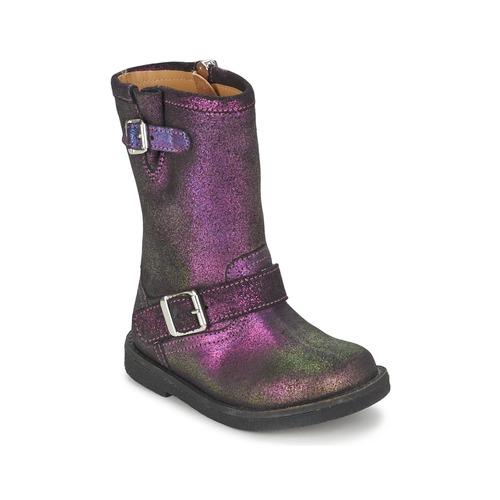 Zapatos Niña Botas urbanas Pom d'Api HIKE BIKER Violeta