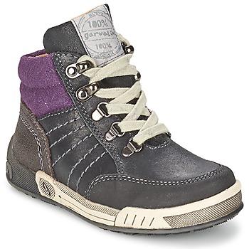 Zapatos Niño Zapatillas altas Garvalin TOMAS Gris / Violeta
