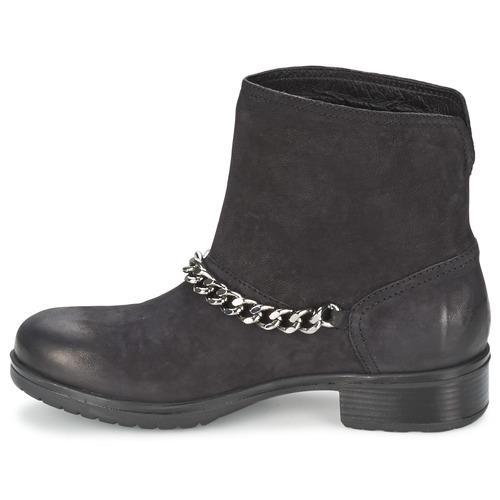 Negro Baja Botas Lepica De Zapatos Mujer Caña Redskins ymv08wONnP
