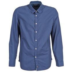 textil Hombre camisas manga larga Marc O'Polo CELSUS Azul / Marino / Rojo