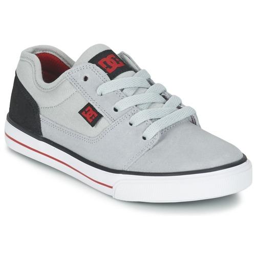 Zapatos Niño Zapatillas bajas DC Shoes TONIK B SHOE XSKR Gris / Negro / Rojo