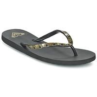 Zapatos Mujer Chanclas Roxy BERMUDA MOLDED J SNDL BLK Negro / Oro