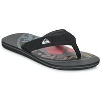 Zapatos Hombre Chanclas Quiksilver MOLOKAI LAYBACK Negro / Rojo