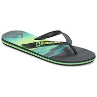 Zapatos Hombre Chanclas Quiksilver MOLOKAIHOLDDOWN Negro / Verde