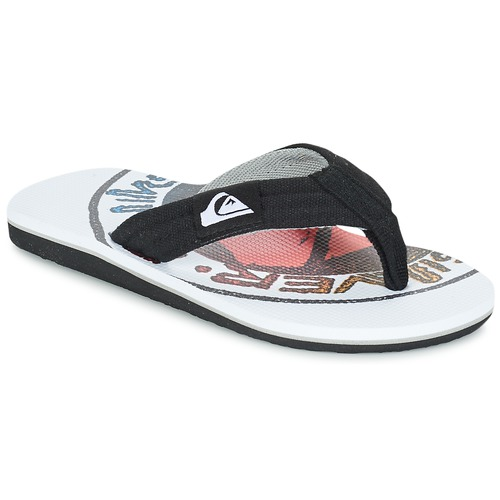 Zapatos Niños Chanclas Quiksilver MOLOKAI LAYBACK Negro / Blanco / Rojo
