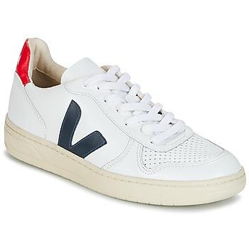 Zapatos Zapatillas bajas Veja V-10 Blanco / Azul / Rojo