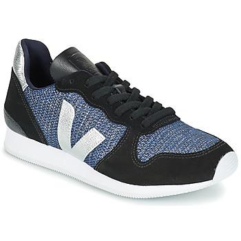 Zapatos Mujer Zapatillas bajas Veja HOLIDAY LOW TOP Negro / Azul / Plata