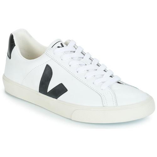 Zapatos Zapatillas bajas Veja ESPLAR LOW LOGO Blanco / Negro