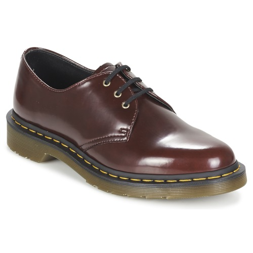 Zapatos de hombre y mujer de promoción por tiempo limitado Dr Martens VEGAN 1461 Rojo / Cereza - Envío gratis Nueva promoción - Zapatos Derbie Mujer
