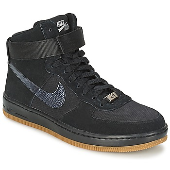 Zapatos Mujer Zapatillas altas Nike W AF1 ULTRA FORCE MID Negro / Plateado